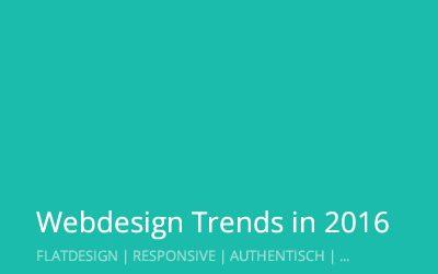Webdesign Trends 2016